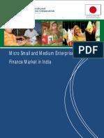 Micro Small and Medium Enterprise Finance Market in India 2012