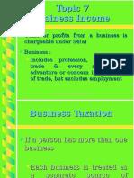 Topic 7 Business Income
