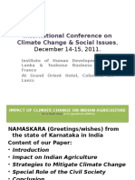 International Conference on Climate Change & Social Issues