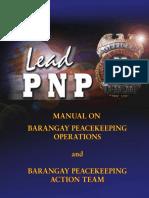 Manual on Barangay Peacekeeping Operations and Bpat
