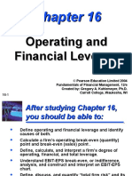 Topic 7 - Financial Leverage - Extra