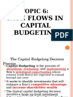 Topic 6-Cash Flow in Capital Budgeting