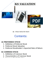 Topic 3- Stock Valuation