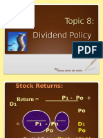 Topic 8-Dividend Policy