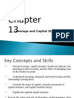 Chap13 Leverage and Capital Structure