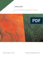 Recovering Landscape Essays in Contemporary Landscape Architecture