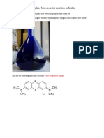 Test for Oxidative or Reducing Agent