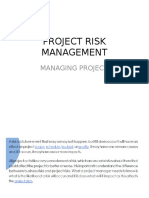 Managing Risk Project