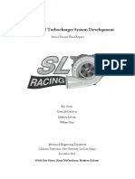 Formula SAE Turbocharger Engine Development