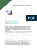Principales Paradigmas de Las Ciencias Sociales y La Educación