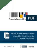 Manual Requisitos Habilitantes Colombia-compra-eficiente Sept 2014
