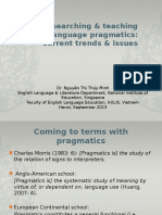 Trends & Issues in Researching & Teaching L2 Pragmatics