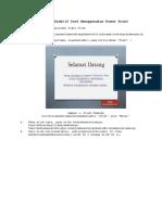 Cara MembuatsoalObjektif Test Menggunakan Power Point Smkk