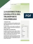2.01 Estructura Legislativa Del Transporte en Colombia