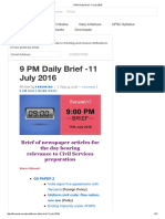 9 PM Daily Brief -11 July 2016