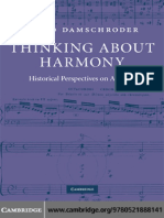DAMSCHRODER David 2008 Thinking About Harmony Historical Perspectives on Analysis