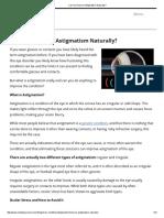 Can You Improve Astigmatism Naturally