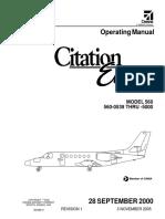 Citation Encore Operating Manual