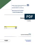 Guía Didáctica Investigación Abril - Agosto 2016