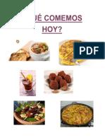 ¿Qué comemos hoy? Libro PDF