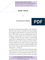 """Presidential Candidate"" by Mark Twain"