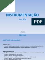 Aula 01 - Instrumentação 20150818