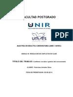 UNVES, MODULO 3 Resolución de Conflictos en Clase.doc