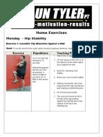 Home Exercises Rehab Knee