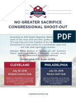 NGS Congressional Shoot Out Flyer and Sponsor Levels