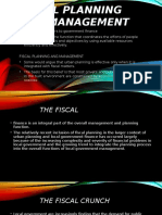 Fiscal Planning and Management