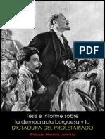 Vladimir Ilich Uliánov, Lenin; Tesis sobre la democracia burguesa y la dictadura del proletariado, 1919.pdf