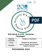 Programa Victria Ocampo