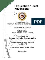 Literatura Testimonial de Centroamerica