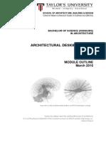 architecture design studio 1  arc 60105  - module outline  march 2016 updated
