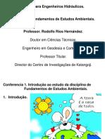 Conferencia 1. Introdução Ao Estudo Da Disciplina de Fundamentos de Estudos Ambientais