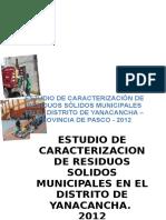 ESTUDIO DE CARACTERIZACIÓN DE RESIDUOS SÓLIDOS MUNICIPALES EN EL DISTRITO DE YANACANCHA (2).docx