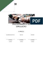 PROCEDIMIENTO DE SIMULACRO.doc