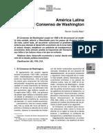 America Latina y El Consenso de Washington