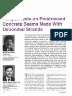 JL-94-November-December Fatigue Tests on Prestressed Concrete Beams Made With Debonded Strands