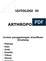Parasitologi III Arthropoda