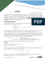 factorising quad