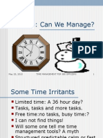 Time Management for Sr. Managers