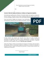 2016-07-24 - Quelfes - PI Falta de Limpeza de Bermas Quelfes - Brancanes - Pechão