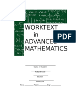 Worktext in Advanced Math (Preliminaries)