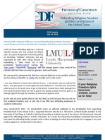 Freedom of Conscience Defense Fund update on Gigi Kurz at Loyola Marymount University