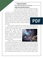 Teoría quimiosintética (trabajo 3)
