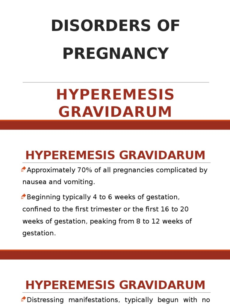 2 Disorders Of Pregnancy Hyperemesis Gravidarumpptx Nausea
