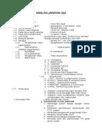 Analisa Jabatan Anna Talu Dadi