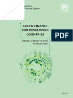 Green Finance for Developing Countries