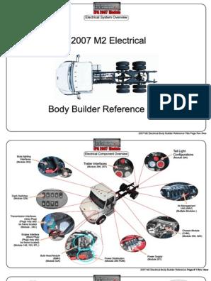 freightliner m2 light wiring diagram m2 2007 electrical body builder manual rev new pdf electrical  m2 2007 electrical body builder manual